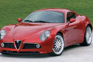 car vehicle red cars alfa romeo