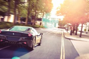 car vehicle street long exposure ferrari