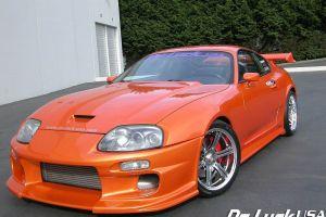 car vehicle toyota toyota supra orange cars