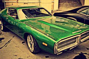 car vintage car green cars