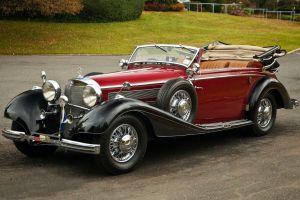 car vintage mercedes-benz red cars vehicle oldtimer