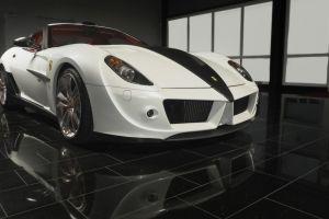 car white cars ferrari vehicle reflection ferrari 599
