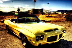car yellow vehicle
