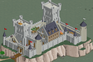 castle pixel art digital art