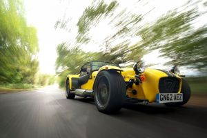 caterham super seven vehicle car yellow cars caterham