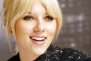 celebrity scarlett johansson women portrait actress face