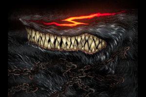 chains fantasy art artwork werewolves kentaro miura berserk