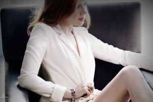 chair sitting women amy adams bracelets