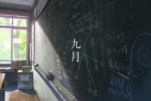 chalkboard the garden of words anime school formula