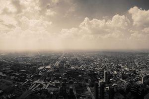 chicago clouds sky city usa skyscraper panorama