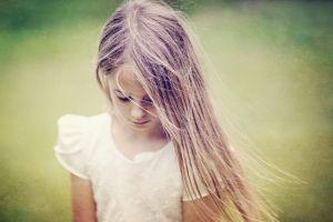 children blurred brunette