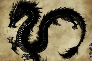 chinese fantasy art dragon