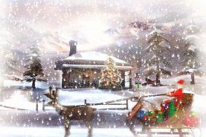 christmas artwork snow