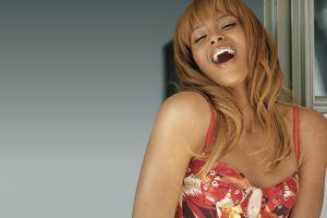 ciara laughing singer ebony open mouth model women