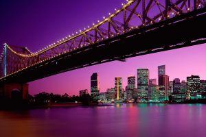 city brisbane cityscape night