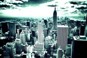 city cityscape new york city building