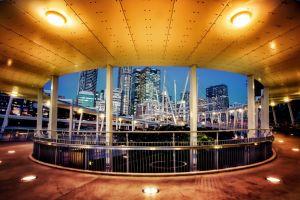 city cityscape urban lights