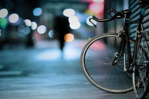 city depth of field bicycle bokeh vehicle street shutters night urban