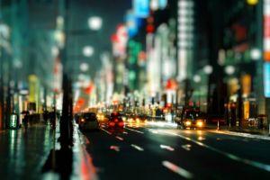 city japan tilt shift