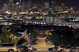city lights night san francisco street