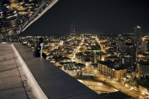city lights rooftops cityscape city women outdoors