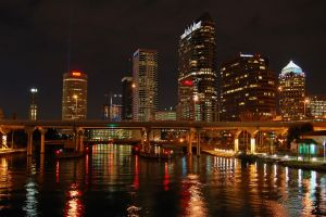 city night florida building tampa reflection cityscape