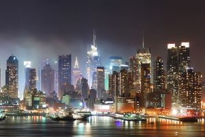city night new york city city lights manhattan