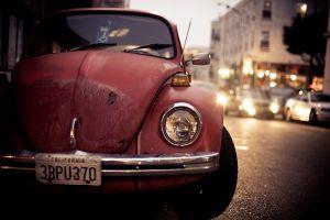 city old car closeup