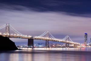 cityscape bridge bay bridge city san francisco