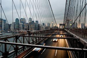 cityscape car bridge city