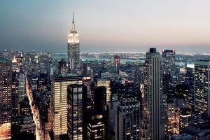 cityscape city empire state building new york city