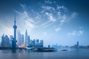 cityscape city smog skyscraper long exposure shanghai