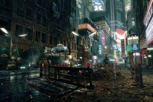 cityscape futuristic science fiction blade rrunner blade runner futuristic city artwork video games
