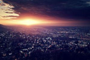 cityscape karlsruhe germany city