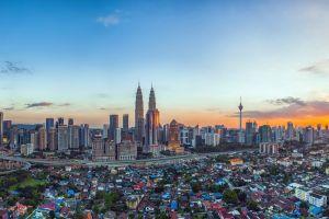 cityscape kuala lumpur sunset building malaysia petronas towers