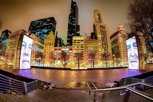 cityscape lights urban city