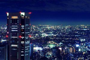 cityscape night japan