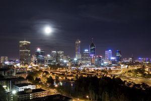 cityscape night perth city