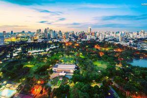 cityscape park bangkok building
