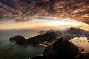 cityscape sky rio de janeiro horizon copacabana clouds