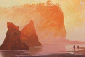 cliff artwork nature fantasy art
