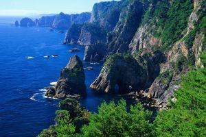 cliff nature landscape sea