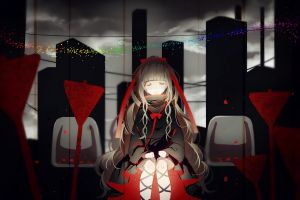 closed eyes anime kagerou project anime girls