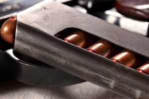 closeup depth of field ammunition makarov pistol