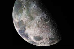 closeup solar system moon texture moonlight space space art