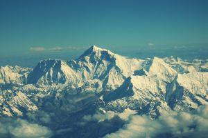 clouds himalayas mount everest landscape nature snow sky winter mountains nepal