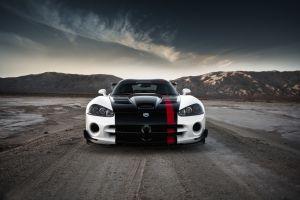clouds landscape dodge white cars car dodge viper vehicle