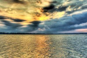 clouds landscape sea sky