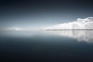 clouds nature sky water sea