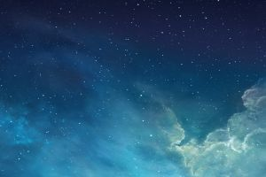 clouds nebula sky cyan space digital art space art stars galaxy blue
